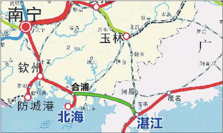 【好消息】钦州坐高铁去广州2小时不到?合湛铁路打通沿海往广东的高铁通道