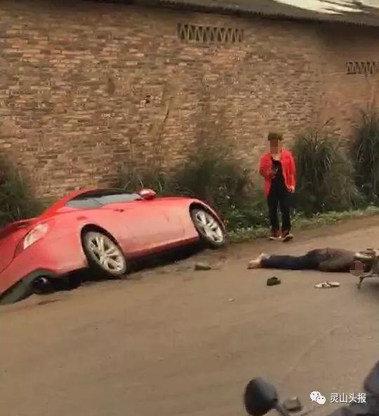 惊险!钦州一电动车司机被小车撞翻倒地,随后惊人的一幕出现了…