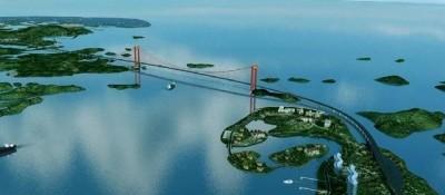 """""""第一跨海大桥"""",长7756米,主跨1160米,就在钦州市境内"""